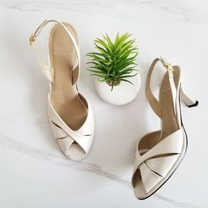 STUART WEITZMAN Slingback Heels Pearl Dress Sandal